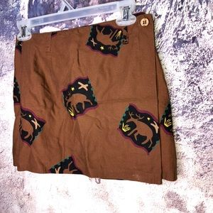Breeches brown moose wrap skirt 8
